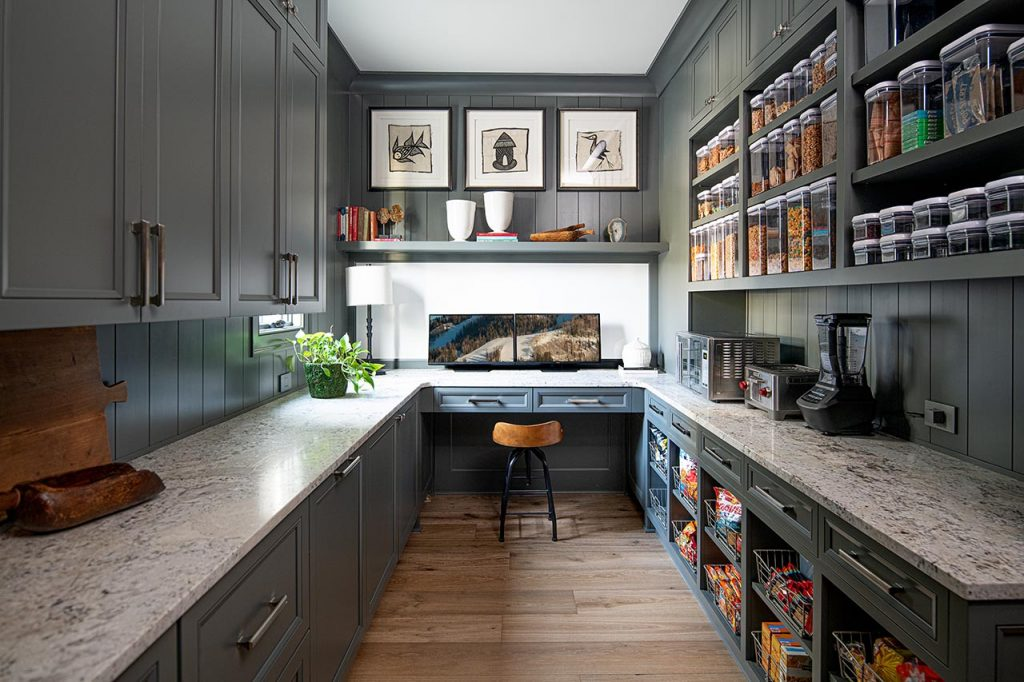 functional and stylish working pantry, scullery kitchen, home management, home office, in Alys Beach, Atlanta, Bluffton, Cashiers, Hamptons, Highlands, Manhattan, Miami, Naples, Nashville, New York, Palm Beach, Rosemary Beach
